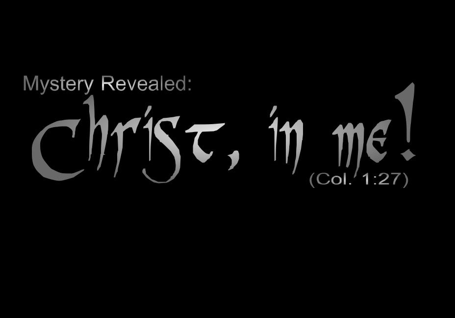 "Cover-up Decal for Goggles - ""Christ In Me"""
