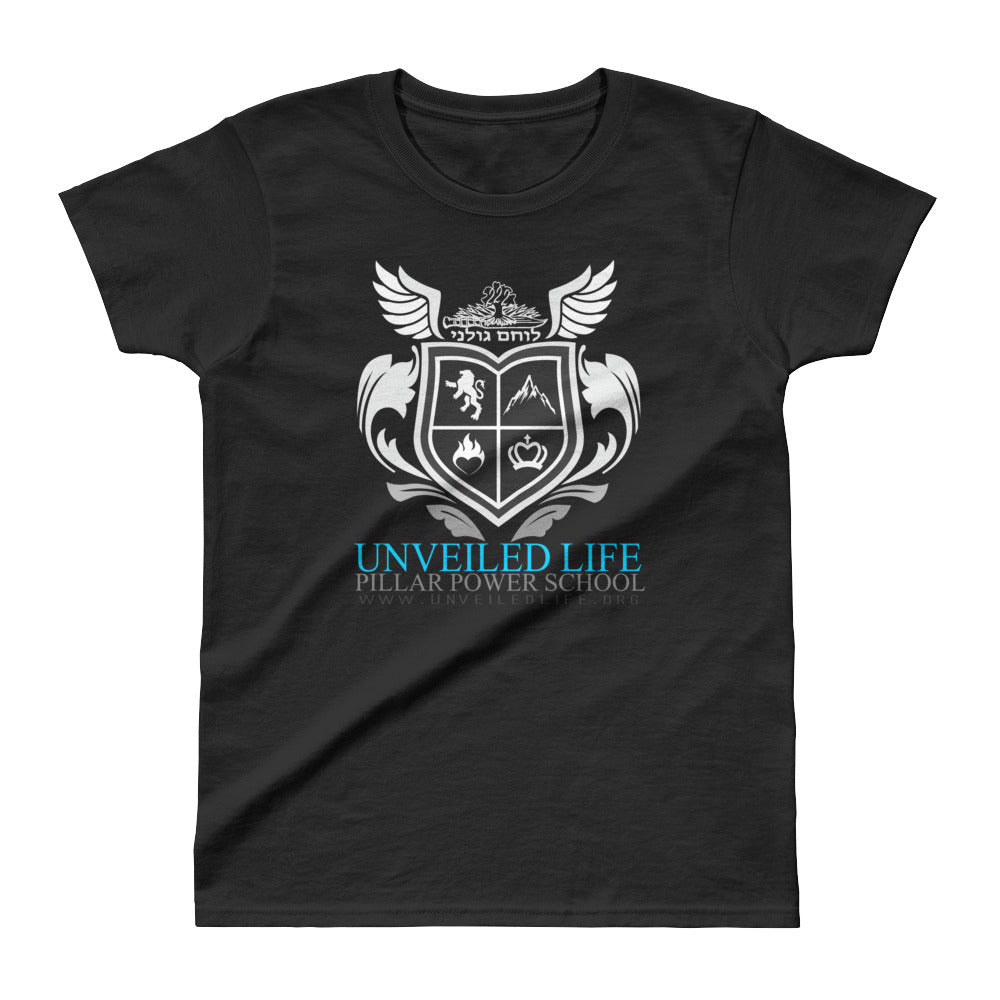 Ladies' T-shirt: Power School (BLACK)