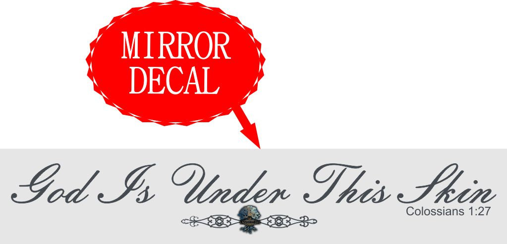 "Mirror Image Collection: ""God Is Under This Skin"" - Elegant Grey"