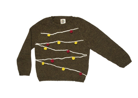 christmas lights sweater