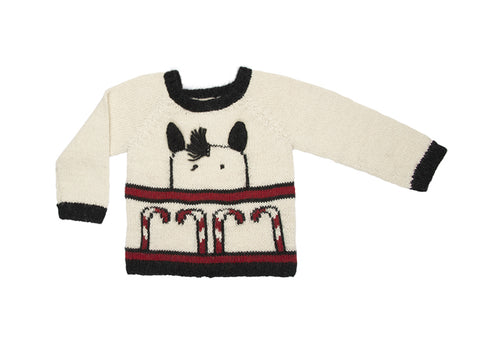 black candy cane sweater