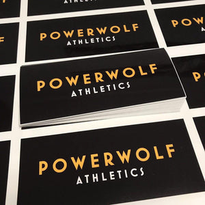 Powerwolf Gold Sticker