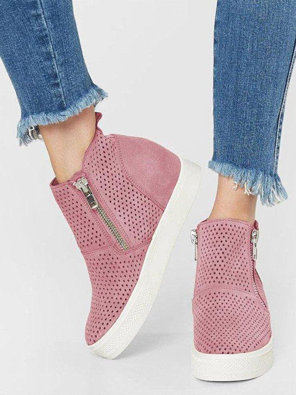 Breathable Wedges Casual Sneakers