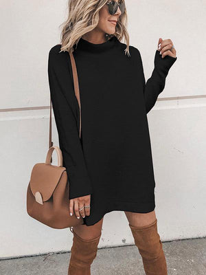 Solid Color Knit Dress