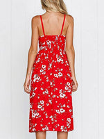 Floral Printed Button Slip Dress