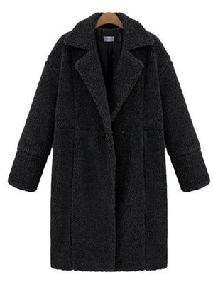 Thick Woolen Coat Blends Jackets Slim Casual Overcoat