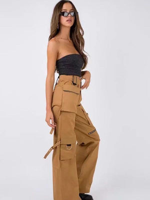 Stitched Zipper Harem Pants