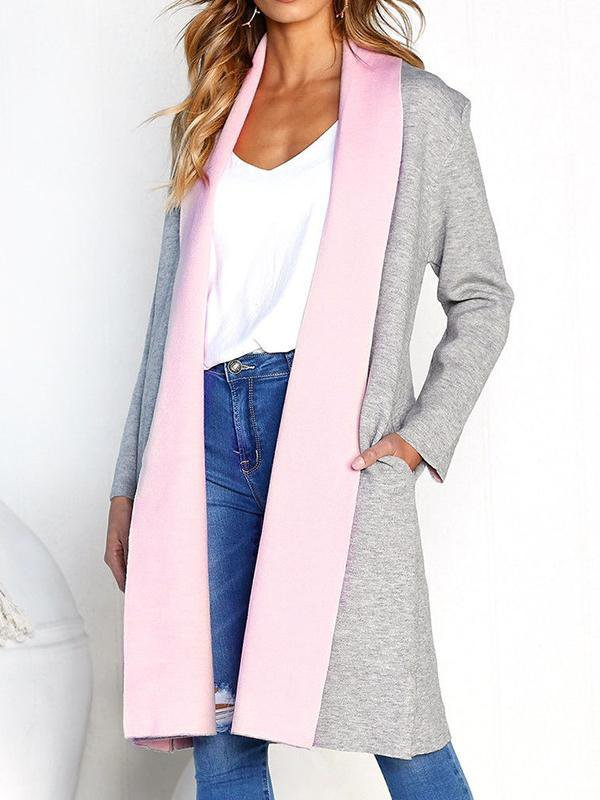 Two-Tone Long Coat-Amazingbe.com-amazingbe.com