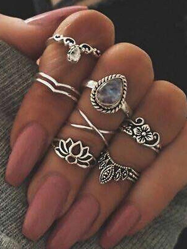 Knuckle Rings, Silver Midi Rings for Women-Amazingbe.com-amazingbe.com