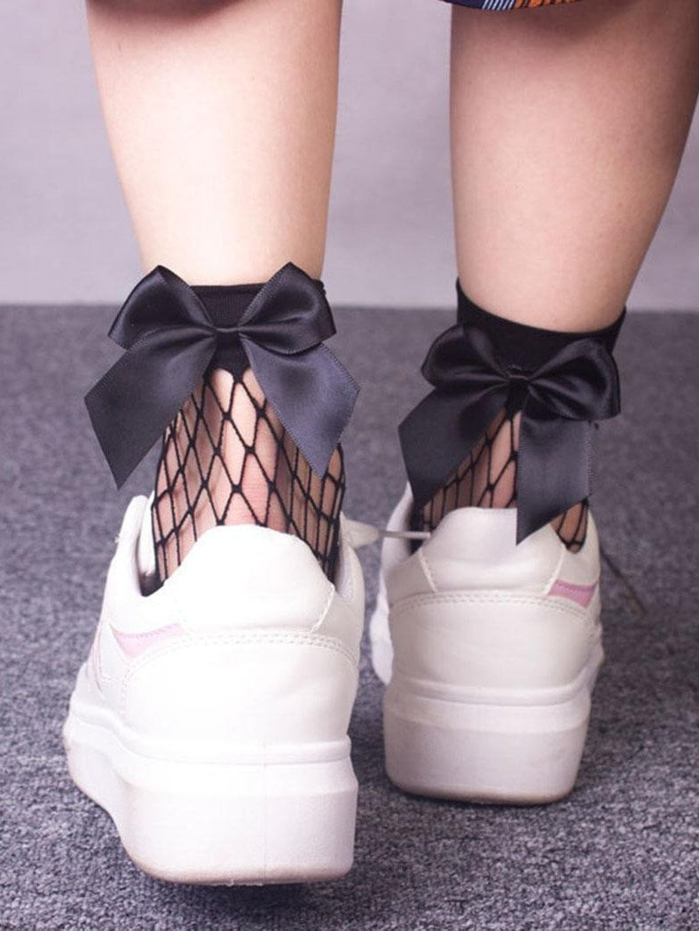 Bow-knot Fishnet Stockings