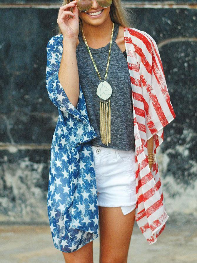 American Independence Day Kimono