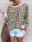 Leopard Print Long Sleeve Sweatshirt