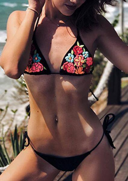 Bind Embroidered Bikini