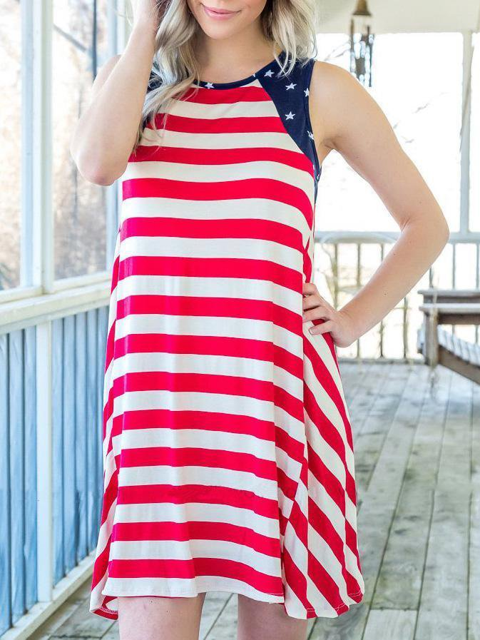 Independence Day National Flag Mini Dress