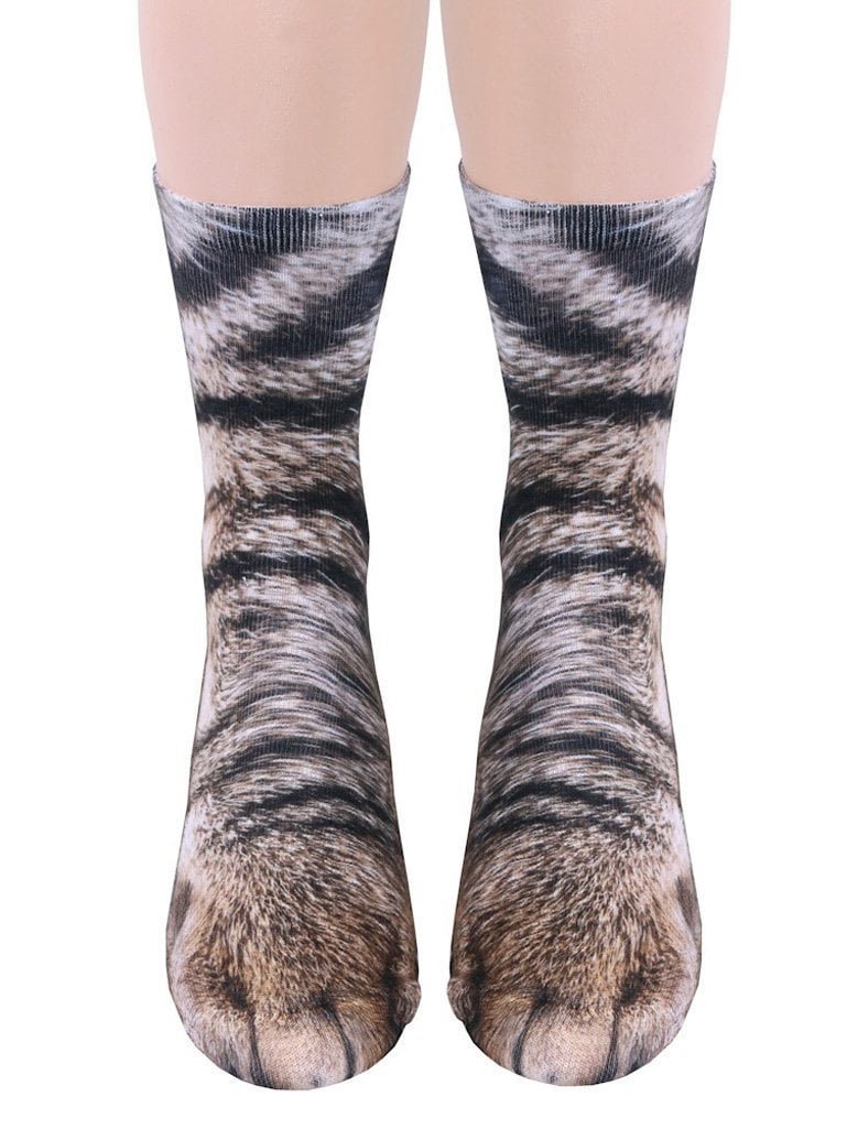 3D Animal Print Cotton Socks