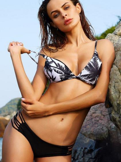 Coconut Tree Triangle Cup Bikini