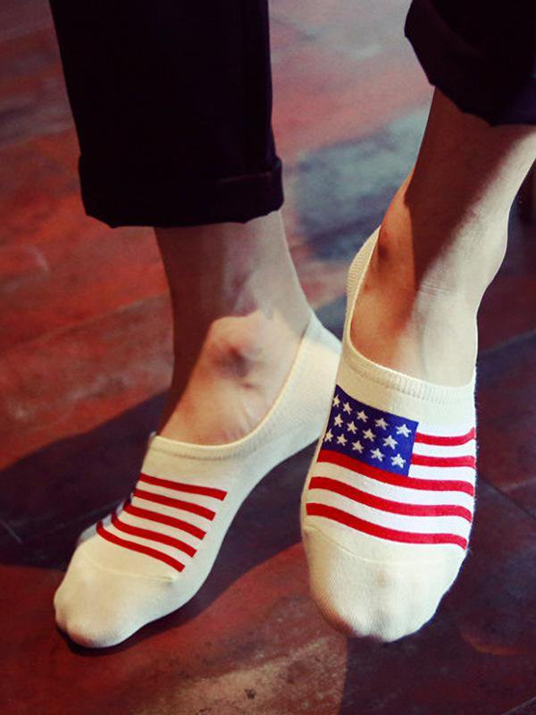 American Flag Short Socks