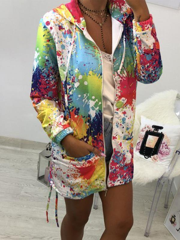 Autumn Long Sleeve Printed Coat-Amazingbe.com-amazingbe.com