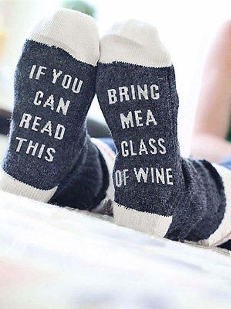 If You Can Read This Letter Printed Socks