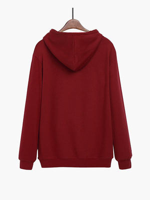 Hooded Embroidered Sweater