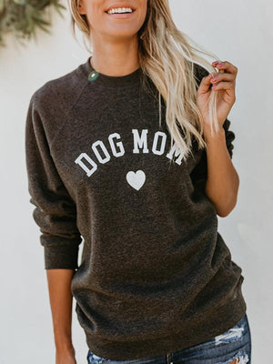Dog Mom Letter Love Sweatshirt