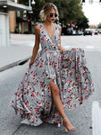Bohemian Sleeveless Print Maxi Dress