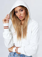 Oh Baby Letter Print Striped Hoodie