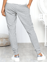 Striped Tie Loose Trousers-Bottoms-Amazingbe.com