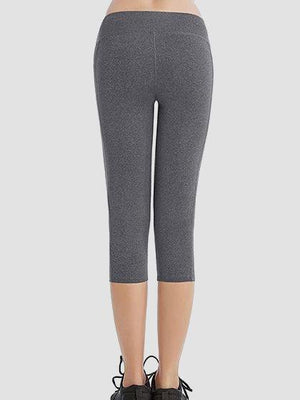 Skinny Capris Yoga Pants With Pockets On Waistband & Sides-Amazingbe.com-amazingbe.com
