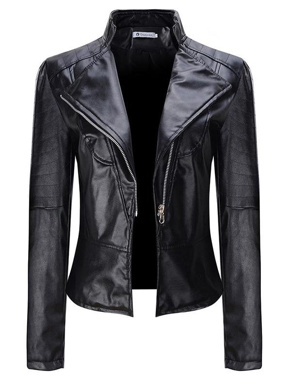 Motorcycle Short Leather Jacket