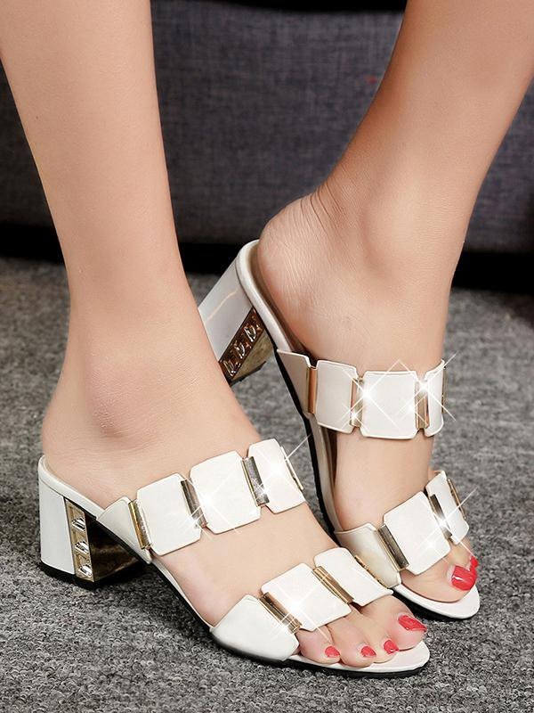 Casual Thick Heel Sandals