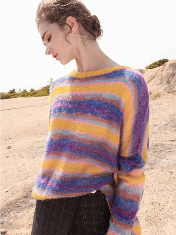 Mohair Rainbow Thin Sweater
