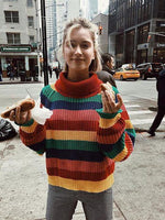 Loose Ice Cream Rainbow Sweater
