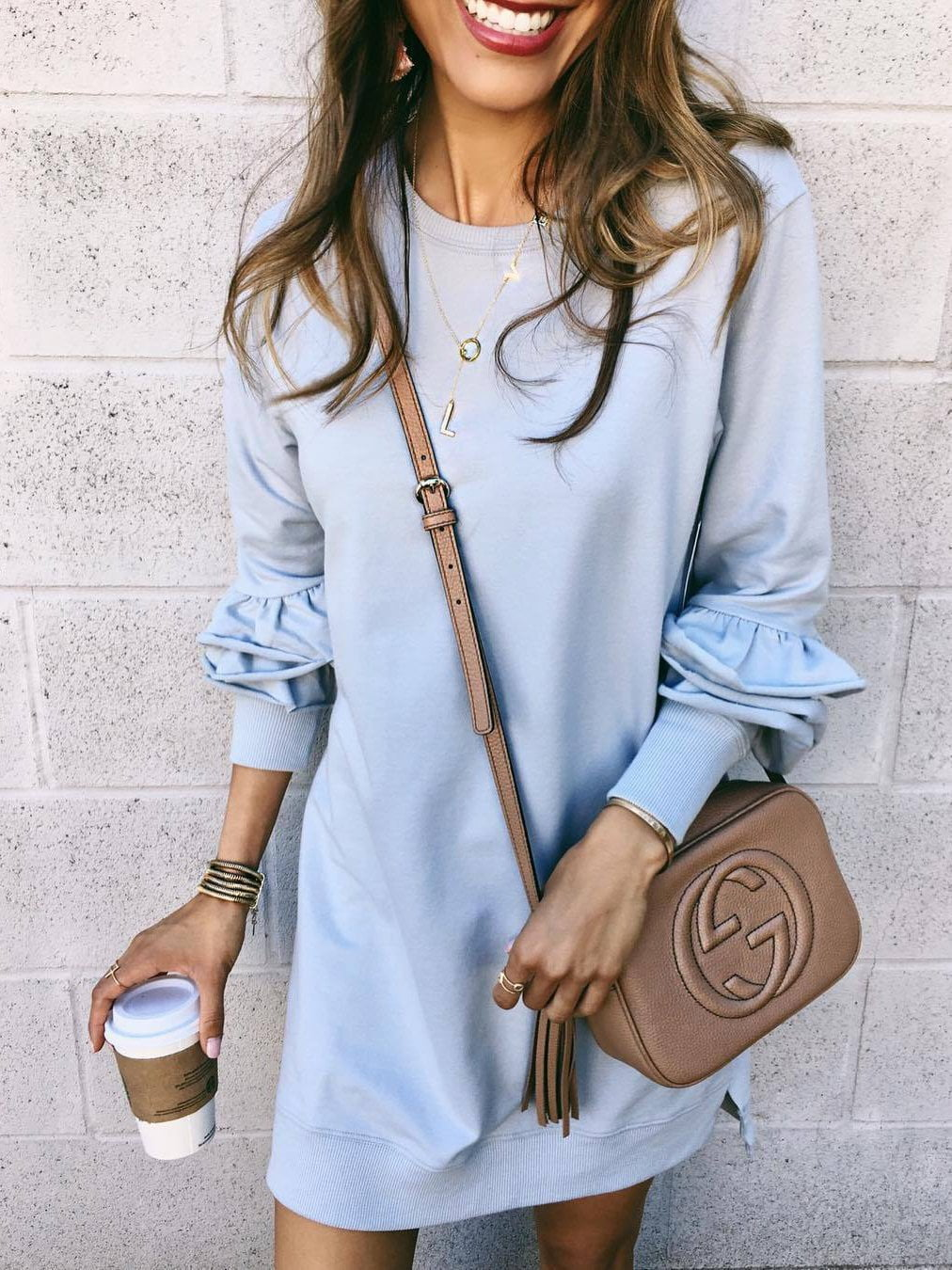 Casual Heaps Sleeves Mini Dress