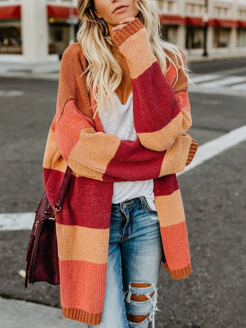 Rainbow Long Sleeve Cardigan Sweater
