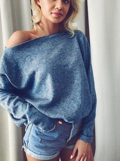 V-Neck Stitching Sweater Sweater