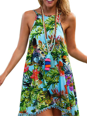 Bohemian Slip Halter Dress