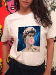 David  Michelangelo Blowing Bubble Gum Creative T-shirt