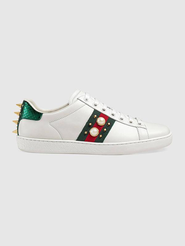 Unisex Studded Leather Sneakers