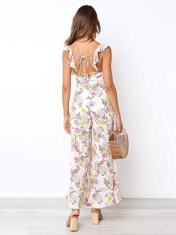 Ruffled Sling Jumpsuit