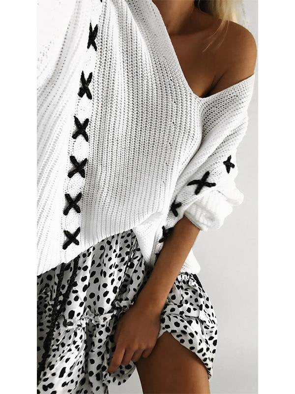 Off-the-Shoulder Long Sleeve Sweater