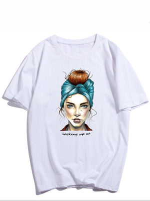 Looking Up At Women T-shirt