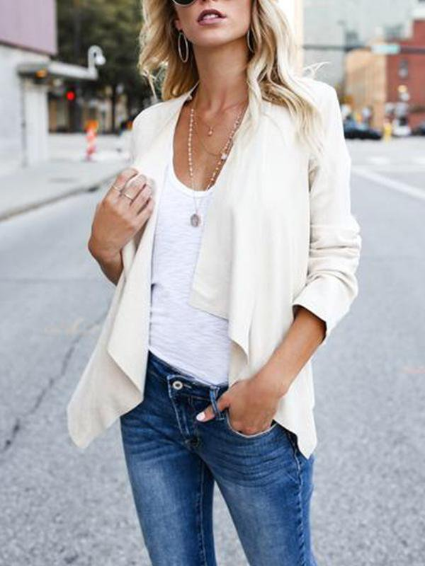Solid Color Suede Casual Jacket