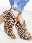 Fashion Leopard Zipper Martin Boots