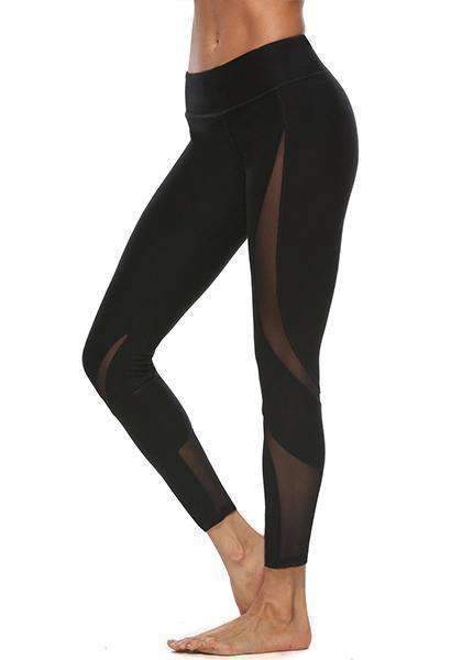 Dadichic.com Long Leggings Black / S High Waist Sexy Mesh Yoga Pants