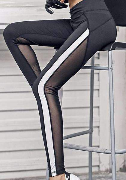 Dadichic.com Mesh Leggings Black / S High Waist Quick-drying Skinny Mesh Patchwork Leggings