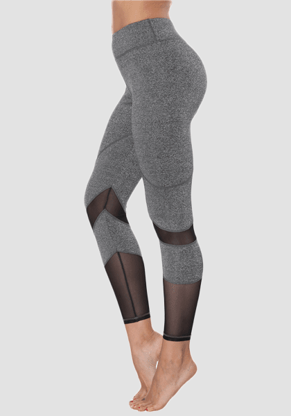 Dadichic.com Mesh Leggings Light Gray / S Mesh Sports Yoga Pants