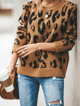 Brown Mohair Leopard Sweater