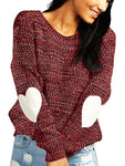 Solid Color Love Sweater