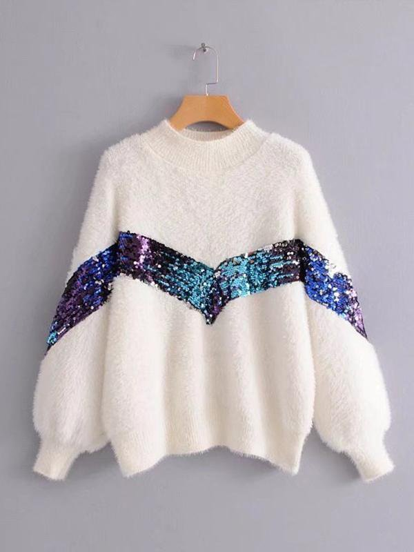 Mohair Sequin Sweater